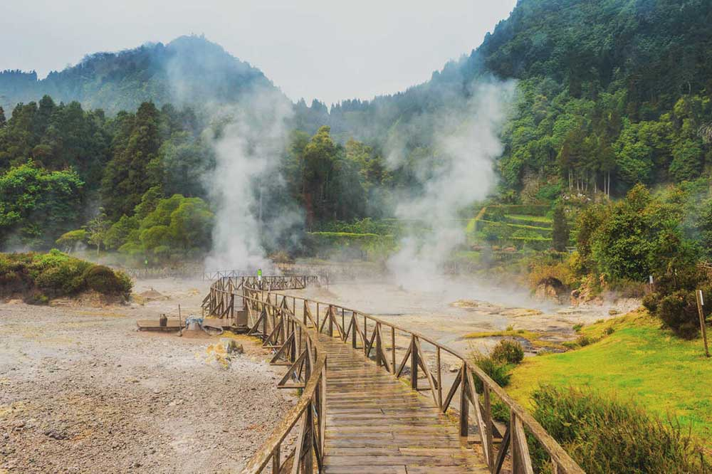 Fumaroles of Furnas Lake, Island of Sao Miguel, Azores, Portugal, Atlantic, Europe Processed with VSCO with g8 preset